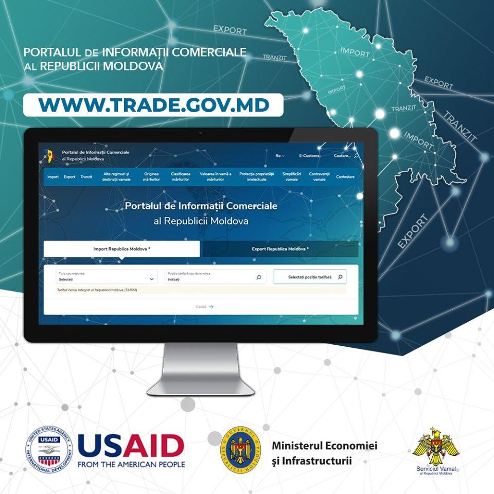 A fost lansat Portalul de Informații Comerciale destinat comunității de afaceri naționale și internaționale – www.trade.gov.md
