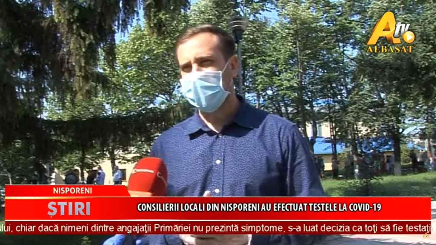 Consilierii locali din Nisporeni şi angajaţii Primăriei au făcut testele la COVID-19