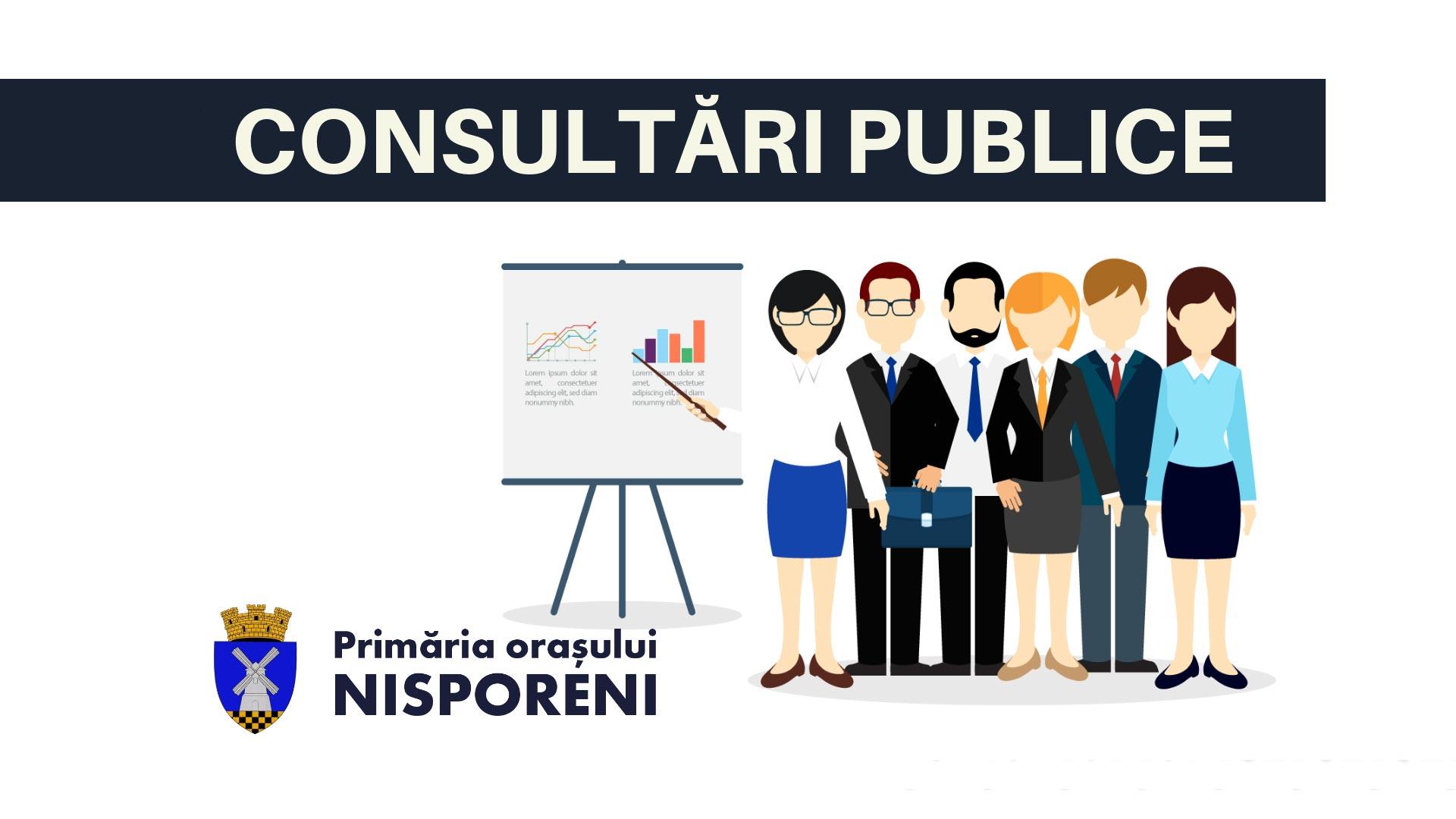 Anunț privind organizarea consultării publice a proiectului de decizie nr. 3/ cu privire la modificarea Planului Urbanistic General or. Nisporeni